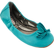 As Is Me Too Leather Ballet Flats w/ Flower Detail - Lexi - A278750