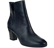 As Is Isaac Mizrahi Live! Leather Booties with Goring - A279250