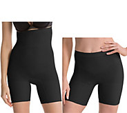 As Is Spanx Higher Power & Power Shaping Short Set of 2 - A288250