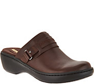 Clarks Leather Lightweight Slip-on Clogs - Delana Amber - A294550