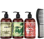 WEN by Chaz Dean Classic 16 oz. Cleansing Cond. Trio With Comb - A295950