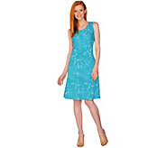 As Is H by Halston Regular Printed Knit Tank Dress - A298450