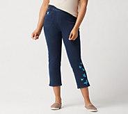 Quacker Factory DreamJeannes Crop Pants with Motif Details - A303250