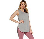 AnyBody Loungewear Cozy Knit Side Split Tank Top - A306950