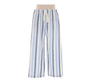 Jockey Separates Blue Lemon Stripe Capri Pants - A316250