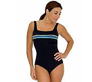 Fit 4 U Cs 1-piece Colorblock Stripes Swimsuit - A327350