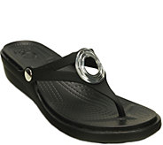 Crocs Slide Sandals - Sanrah Wedge Beveled Circle - A357950