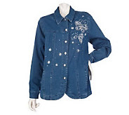 Quacker Factory Sparkle & Shine Motif Jeanne Jacket - A216651