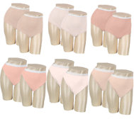 Breezies Set of 6 Cotton Briefs with UltimAir Lining