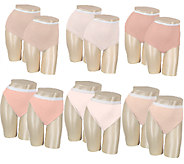 Breezies Set of 6 Cotton Briefs with UltimAir Lining - /A22951