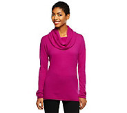 Isaac Mizrahi Live! 2-Ply Cashmere Cowl Neck Tunic - A235051