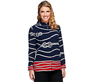Susan Graver Weekend Printed French Terry Zip Front Jacket - A251651