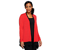 Joan Rivers Luxe Knit Long Sleeve Drape Front Cardigan - A252051