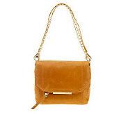 As Is B. Makowsky Jynx Glazed Leather Shoulder Bag - A252151