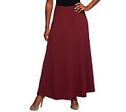 As Is Denim & Co. Petite Knit Pull-On Skirt with Seam Detail - A253351