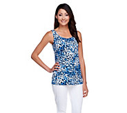 Susan Graver Printed Butterknit Scoop Neck Tank - A255351