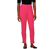 Isaac Mizrahi Live! Regular Ponte Knit Side Zip Ankle Pants - A260951
