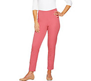 Isaac Mizrahi Live! Regular 24/7 Stretch Ankle Pants - A261051