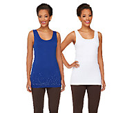 skinnytees Solid & Sparkle Seamless Tank Set - A262451