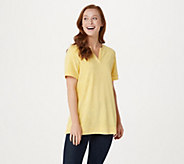As Is Denim & Co. Essentials Knit Terry Short Sleeve Top - A263751