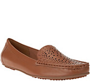 Isaac Mizrahi Live! Perforated Leather Moccasins - A264251