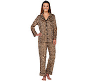 Carole Hochman Micro Fleece Notch Collar Novelty Pajama Set - A266851