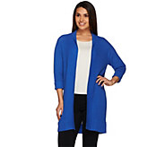 Joan Rivers Open Front Ribbed Knit Cardigan - A267551