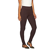 LOGO by Lori Goldstein Pull-On Knit Pants with Pintuck Detail - A267851