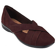 Clarks Nubuck_Slip-ons with Adjustable Strap - Haydn Opal - A268851