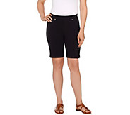 As Is Susan Graver Weekend French Knit Pull-On Bermuda Shorts - A275151