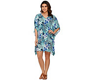 Denim & Co. Beach Tropical Print Cover Up - A275251