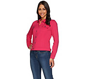 Kelly by Clinton Kelly Jean Style Ponte Jacket - A276351