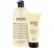 philosophy 32 oz purity made simple cleanser & 6 oz mask