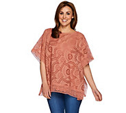 Studio By Denim & Co. Eyelet Poncho and Tank Set - A277651