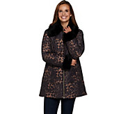 Susan Graver Animal Print Quilted Jacket - A283651