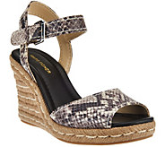 As Is Marc Fisher Peep-toe Espadrille Wedges - Maiseey - A283851