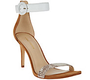 As Is Marc Fisher Leather Sandals with Ankle Strap - Bettye - A285251