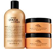 philosophy orange cocoa & cream shower gel & souffle duo - A286451