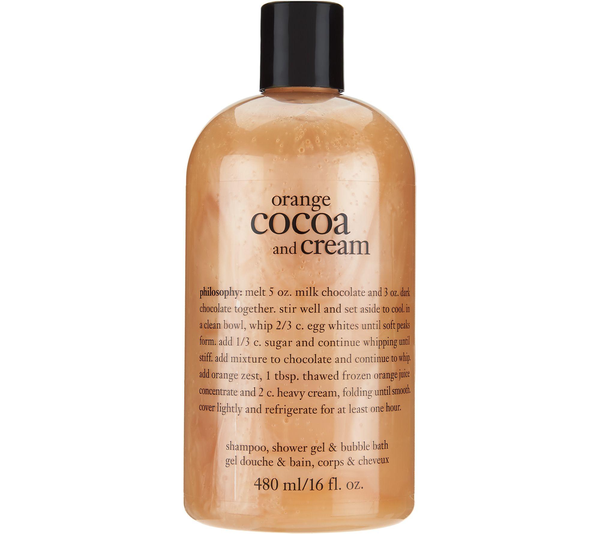 philosophy orange cocoa cream shower gel souffle duo page 1 philosophy orange cocoa cream shower gel souffle duo page 1 qvc com