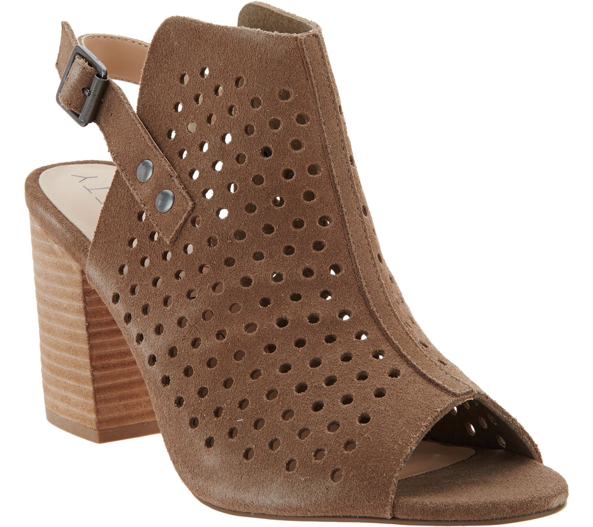 Roller pump shoes - Sole Society Perforated Suede Slingback Sandals Rena A287051
