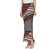Susan Graver Printed Liquid Knit Maxi Skirt w/ Slit - Petite - A289051
