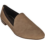 As Is Franco Sarto Suede Smoking Slippers with Goring - Senate - A289851