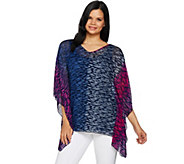 Attitudes by Renee Artisan Caftan Top with Solid Jersey Tank - A294051