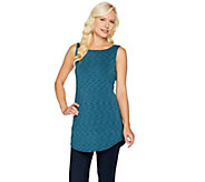As Is LOGO Layers by Lori Goldstein Space Dye Tank with Shirttail Hem - A294751