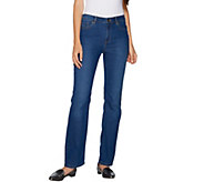 Susan Graver Petite Stretch Denim Mini Boot Cut Jeans - A294951