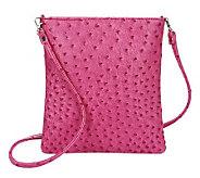Lee Sands Ostrich Print Crossbody Handbag - A331251