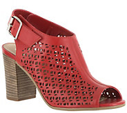 Bella Vita Leather Perforated Sandal Booties -Trento - A339151