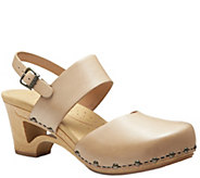 Dansko Slingback Low Heel Leather Sandals - Thea - A340251