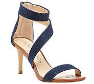 Sole Society Fabric Asymmetrical Strap Sandals- Juliette - A340551