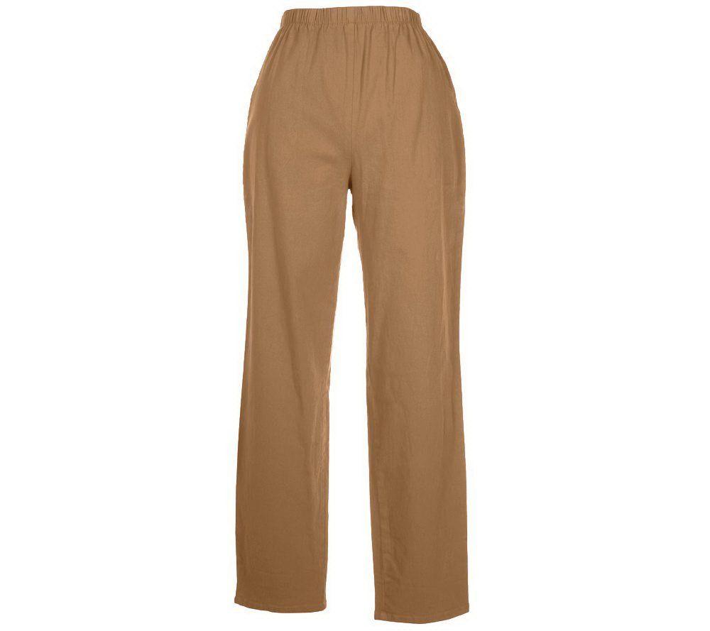 Denim & Co. Original Waist Stretch Regular Pants w/ Side Pockets ...
